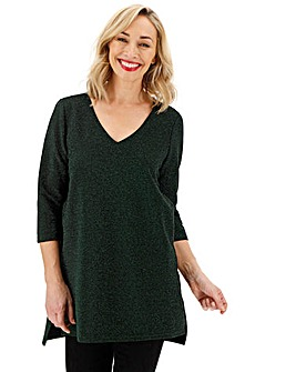 Junarose Sparkle 3/4 Sleeve Top