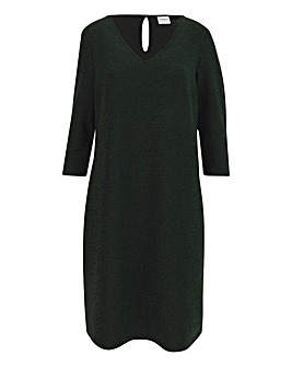 Junarose Green Glittler Dress