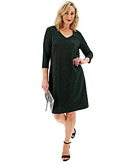 Junarose Green Sparkle Glittler Dress