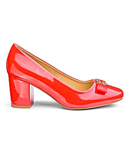 Heavenly Soles Bow Detail Court Shoes Extra Wide EEE Fit