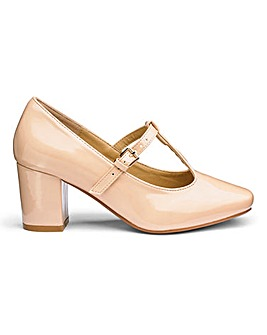 Heavenly Soles T Bar Shoes Extra Wide EEE Fit