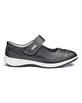 Cushion Walk Touch And Close Leather Leisure Shoes Extra Wide EEE Fit