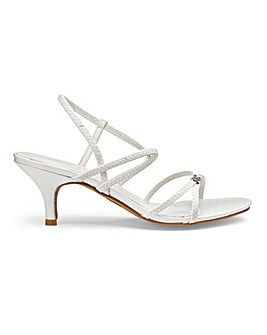 Heavenly Soles Stretch Strappy Sandals D/E FIT