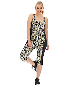 Wolf and Whistle Curve Zebra Chain Capri