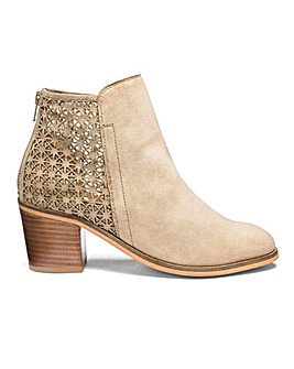 Heavenly Soles Suede Ankle Boots Wide E Fit