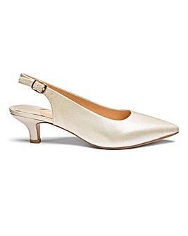 Kitten Heel Slingback Shoes EEE Fit