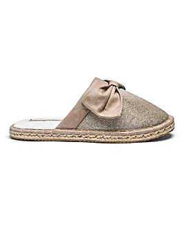 Pretty You Textured Espadrille Mule Slippers