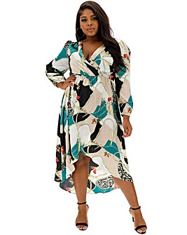 70cdc3caa0 AX Paris Dip Hem Wrap Dress