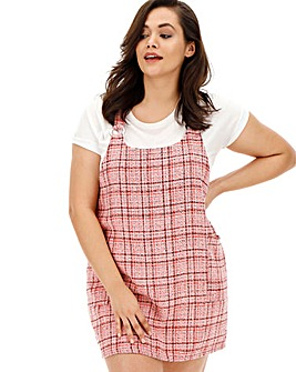 AX Paris Pink Tweed Pinafore Dress