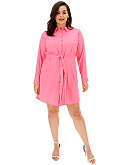 AX Paris Neon Pink Shirt Dress
