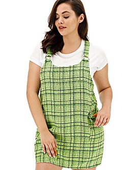 AX Paris Green Tweed Pinafore Dress