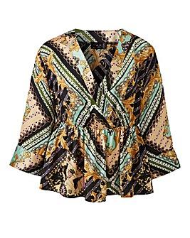 AX Paris Flare Sleeve Kimono Blouse