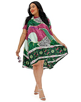 AX Paris Tropical Print Smock Dress