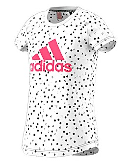 adidas Younger Girls Printed Graphic Tee