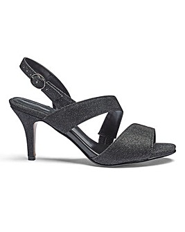 Heavenly Soles Wrap Around Evening Shoes Extra Wide EEE Fit