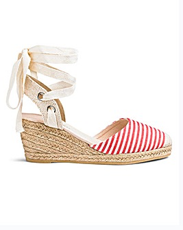Leg Tie Wedge Espadrilles EEE Fit