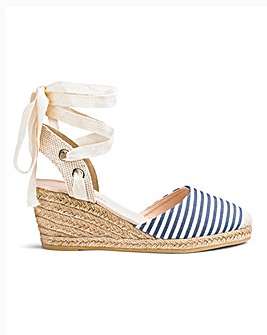 Leg Tie Wedge Espadrilles E Fit