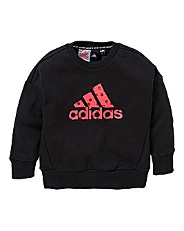 adidas Younger Girls BOS Crew Neck Sweat