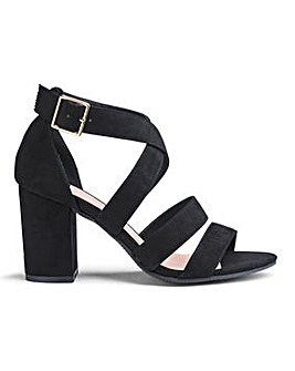 Flexi Sole Block Heel Sandals EEE Fit