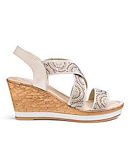 Heavenly Soles Wedge Sandals EEE Fit