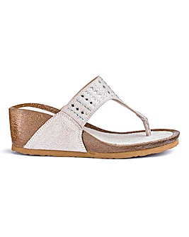 Toe Post Wedge Sandals E Fit