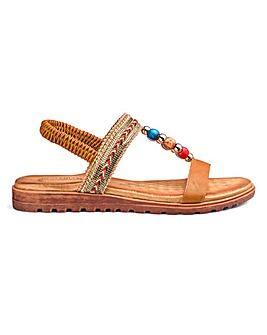 Heavenly Soles Comfort Sandals EEE Fit