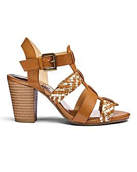 Heavenly Soles Interweave Sandals Extra Wide EEE Fit
