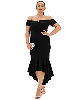 Quiz Curve Bodycon Fishtale Midi Dress
