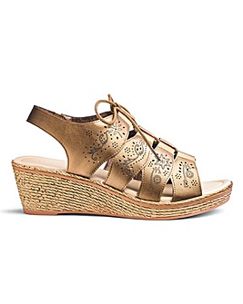 Heavenly Soles Ghillie Sandals E Fit