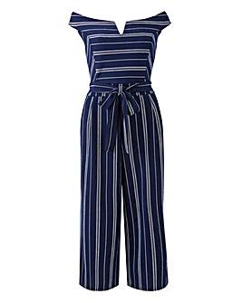 Quiz Curve Stripe Culotte Jumpsuit