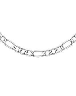Sterling Silver Smooth Link Figaro Chain