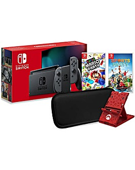 Nintendo Switch Grey Family Bundle