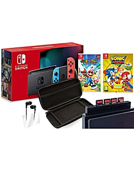 Switch Neon inc 2 games and 2 Accs