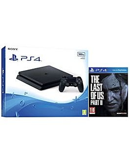 PS4 500GB Console and The Last of Us 2
