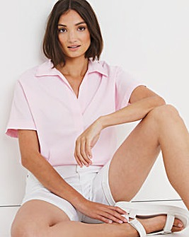 Pink Short Sleeved Oversized Shirt