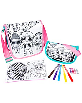 LOL Surprise 3 Pack Colour Your Own Bag Set Include Pencil Case