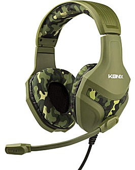 Konix PS-400 Camo Gaming Headset for PS4