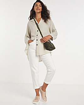 Stone Dropped Shoulder Twill Shirt