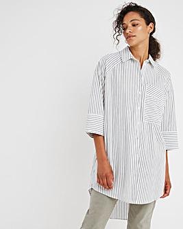 Mono Stripe Oversized Shirt