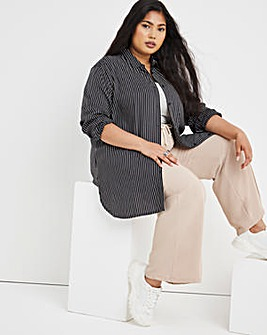 Mono Stripe Relaxed Fit Shirt