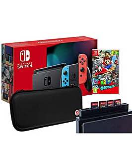 Switch Neon and Super Mario Odyssey