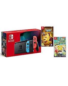 Switch Neon inc Rayman and Spongebob