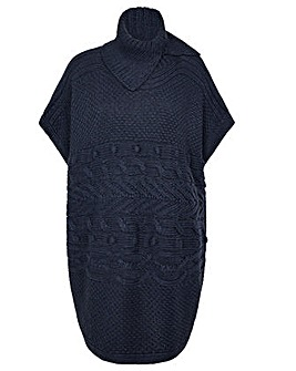 Monsoon Stitchy Cable Knit Poncho