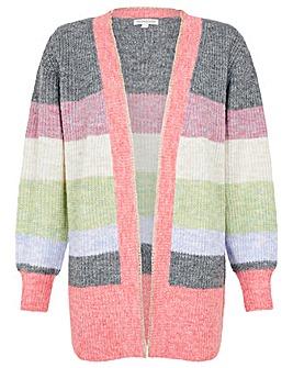 Monsoon Stripe Cardigan in Wool Blend