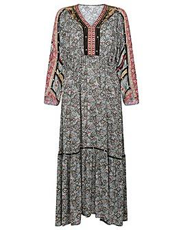 Monsoon Paisley Print Midi Dress