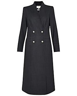 Monsoon Joey Long Coat in Wool Blend