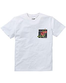 Roses White S/S T-Shirt L