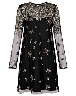 Monsoon Kate Sequin Starburst Dress
