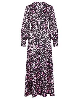 Monsoon Niya Animal Print Shirt Dress
