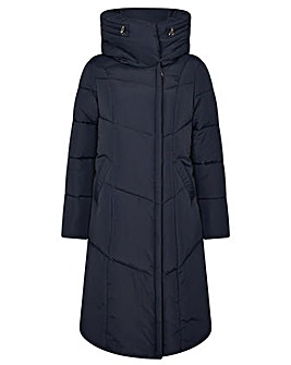 Monsoon Longline Hooded Padded Coat